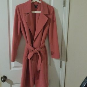 Express coral trench coat / blazer